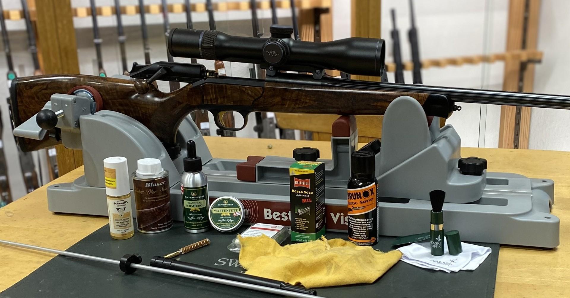 Waffenreinigung und Waffenpflege